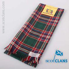 Clan MacFarlane Tartan Scarf. Free worldwide shipping available.