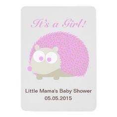 Cute Hedgehog It's a Girl! Baby Shower