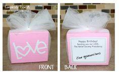 Relief Society birthday gift ideas