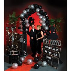 "Theme idea: host a ""Red Carpet Event"" and ask guests to dress the part. Roll out the red carpet and set up a grand entrance."