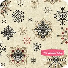 Winter Wonderland Cream Falling Snowflakes Yardage SKU# 2078-44 - Fat Quarter Shop