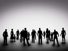 Group Of Various People Silhouettes. Society Stock Image - Image of people, outline: 46805657 Photo Grouping, Silhouette S, Human Behavior, Urban Life, Graphic Design, Stock Photos, People, Image, Psychology