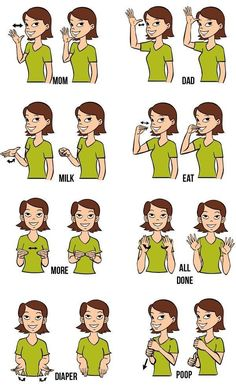 Baby sign language utilizes modified gestures from American Sign Language. I was keenly interested in... #signlanguagelearning #learnsignlanguage