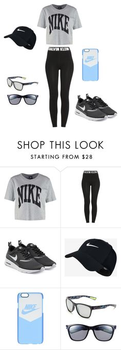 """Just Do It!"" by kaykaykittie on Polyvore featuring NIKE and Calvin Klein"