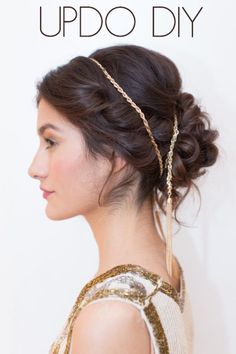 New Years Party hair DIY.