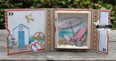 To the beach Ticket Card, Studio Lighting, Diy Cards, Handmade Cards, Stampin Up, Knitting, Frame, Beach, Artist