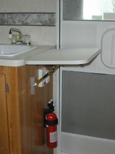 Add Counter Space With A Handy Fold Down Counter Top Rv