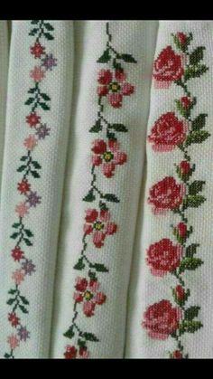 Cross Stitch Borders, Cross Stitch Rose, Cross Stitch Flowers, Cross Stitch Designs, Cross Stitch Patterns, Smocking Patterns, Bargello, Needlepoint, Needlework