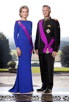 Queen Mathilde and king Philippe of Belgium