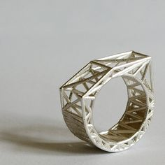 #3dPrintedSilverRing Like 3D printed #jewelry? Morpheus custom makes jewelry from images using 3d printing technology