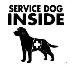 Service Dog Car Window Decal