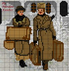 """Dr. Zhivago ""  Designed by Nurdan Kanber  Inspired from a winter scene  of the movie played  by  Julie Chistie and Omar Sharif"