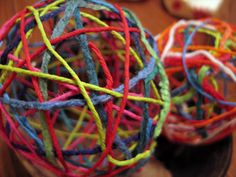 Easy Christmas Ornaments Ball Rope for Kids