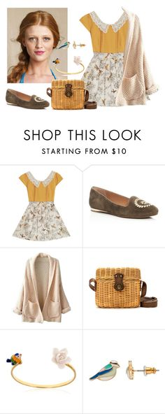 """""""199. Sets for exam. Preppy bird"""" by sollis ❤ liked on Polyvore featuring Jack Rogers, WithChic, Zara, Nach and LC Lauren Conrad"""
