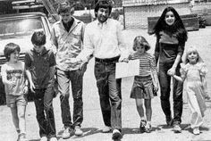 "With Steven Spielberg and all the other Spielberg kids of the summer of 1982.  L to R: Oliver Robins, Henry Thomas and Robert MacNaughton from ""E.T."", Steven Spielberg, a young Drew Barrymore from ""E.T."", Dominique and Heather O'Rourke."