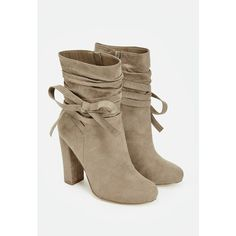 d1a52eb16eb0c3 Justfab Booties Mavis ($40) ❤ liked on Polyvore featuring shoes, boots,  ankle