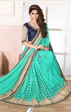 http://www.designersandyou.com/saree-blouse/designer-sarees/designer-saree-blouses-neck-designs-with-machine-embroidery-and-lace-1798