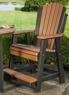 25 Ideas For Garden Furniture Balcony Chairs Rustic Outdoor Furniture, Pallet Garden Furniture, Painting Wooden Furniture, Log Furniture, Outdoor Chairs, Modern Furniture, Antique Furniture, Furniture Ideas, Furniture Makeover