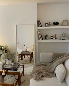 white and beige living room decor