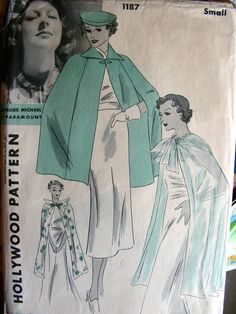 Vintage 1930's Hollywood Pattern 1187  RARE  GLAMOROUS by anne8865