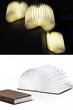 Lumio Illuminated Book as Wall Sconces Simply open the cover to turn it on, the further you open the cover the brighter it gets. Inspired by the idea of an illuminated book, Lumio is compact and Sconces Living Room, Bedroom Lamps, Wall Sconces, Bedroom Wall, Hanging Lights, Wall Lights, Nightstand Lamp, Large Lamps, Touch Lamp