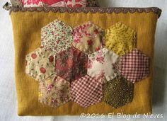 El Blog de Nieves. Labores y Punto de cruz: Hexágonos y calabazas Patchwork Quilting