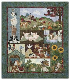 This McKenna Ryan pattern is on my 'wish list'.  I'd love to make this for my sister, since she likes roosters, goats and sunflowers!