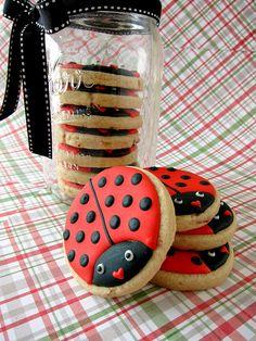 ladybug cookies by allieroom, via Flickr