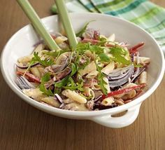 Hot pasta salad