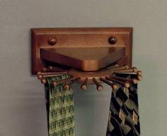 Woodform Carousel Tie Rack, Mahogany Made in USA