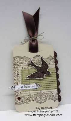 Notably Ornate Tag by Speedystamper - Cards and Paper Crafts at Splitcoaststampers