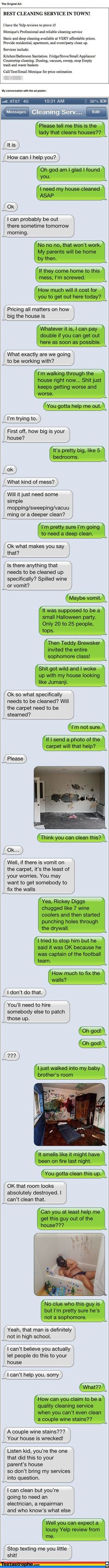 Hilarious texting responses to adds or flyers Serious hurts to read from laughing so hard