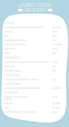 Infografía ¿Cuánto cuesta una boda? #presupuesto #leblue #bodas