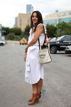 pretty little white skirt wrap and the boots... kick #**