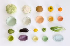 Reversed Volumes is a collection of bowls that are shaped by capturing the imprint of a fruit/vegetable. #Ilovethissomuch