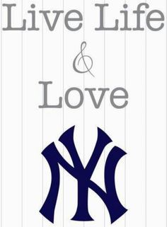 Items similar to keep calm - live life and love the NEW YORK YANKEES (ny, baseball team - sports memorabilia) - 8 x 10 poster print on Etsy Yankees Baby, Yankees Logo, Yankees News, New York Yankees Baseball, New York Giants, Baseball Videos, Baseball Stuff, Baseball Equipment, Mlb Teams