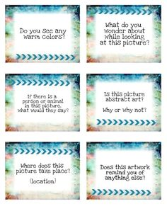 This set of 30 cards contains questions that can used for art critiques (peer to peer critique or self-reflection) or discussions about famous artw...