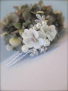 Dogwood Blossom Hair Pin  Bridal Hair Pin by UniqueJewelryLLC