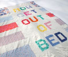 I need this on the back of every quilt I own!!!  The Drawing Board: Brought To You By The Letter N