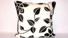 Woodland  Leaf pillow  Cream Panama wave cushion cover  by SABDECO, €16.00
