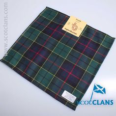 Pure wool pocket square in Forsyth Modern tartan - available from ScotClans