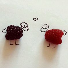 raspberries, funny fingers by proxy
