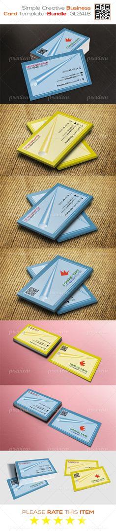 Simple Creative Business Card Template - Bundle GL2418