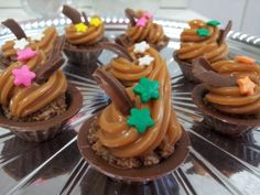 Mini Cupcakes de chocolate com doce de leite