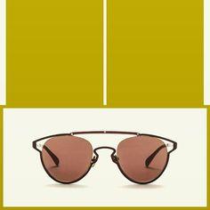 Sunglasses AM Eyewear NOJ.I- SEPIA(LARGE). Handcrafted acetate Japanese titanium…
