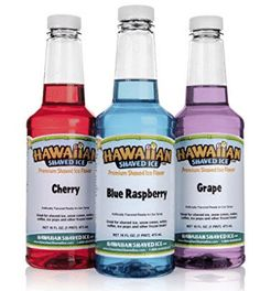 Hawaiian Shaved Ice Snow Cone Syrup 3 Flavor Kids Party Supplies Grape Cherry BB for sale online Snow Cone Syrup, Snow Cones, Hawaiian Shaved Ice, Snow Cone Machine, Ice Shavers, Ice Molds, New Flavour, Frozen Treats, Shaving