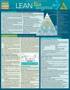 Lean Six Sigma – Laminated Reference Guide - business management Lean Six Sigma, Change Management, Business Management, Business Planning, Knowledge Management, Program Management, Time Management, Innovation Management, Amélioration Continue