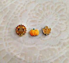 Fall floating charms Turkey ... Pumpkin ... by PrettyLittleLockets
