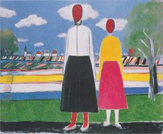 Two Figures in a Landscape by @artistmalevich #suprematism