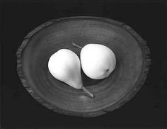 """yama-bato: """" Paul Caponigro """"Two Pears, Cushing, Maine"""" Gelatin Silver Print Photograph Signed in pencil on mount au recto. Negative Date: 1999 Printed Later http://www.soulcatcherstudio.com/exhibitions/caponigro/two_pears.html """""""